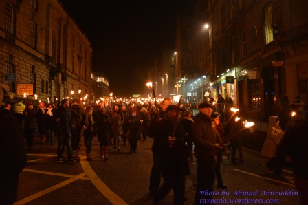 Torchlight Procession Edinburgh