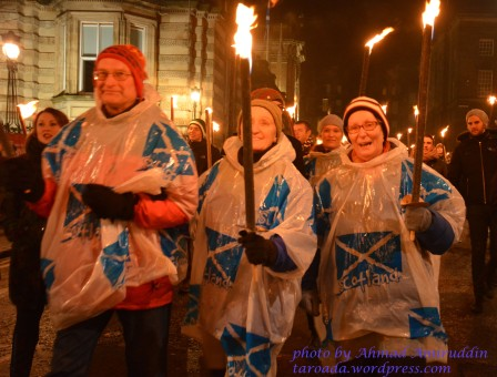 Torchlight Procession Edinburgh-Old People