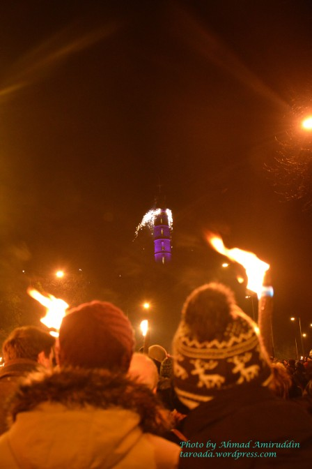 Torchlight Procession Edinburgh-Calton Hill