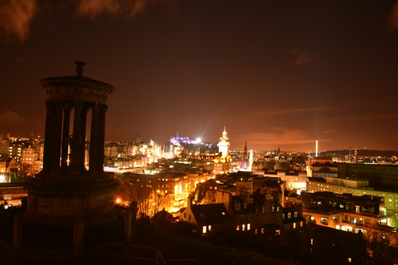 Calton Hill at New Year Eve- Night