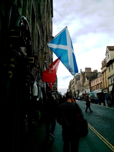 Scotland Flag in Edinburgh